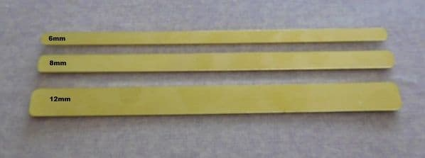 Cuff metal stamping blank - available in 4mm, 6mm, 8mm and 12mm x 2mm aluminium